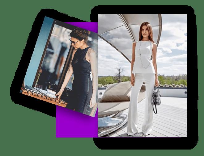 Book page Fashion photos